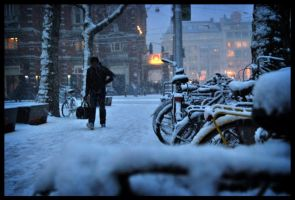 winter night amsterdam by spi8as