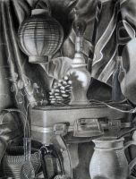 Still Life in Charcoal by Masca-Ridens