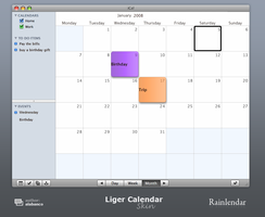Liger Calendar for Rainlendar by alabanco