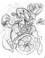 Earthworm Jim sketch by luismario