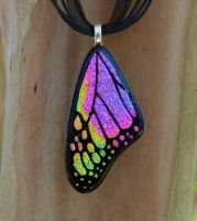 Magenta Mix Glass Wing by FusedElegance