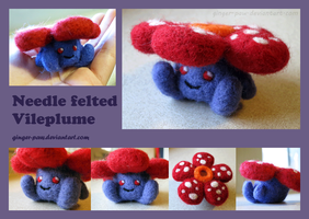 Needlefelt Vileplume by ginger-paw