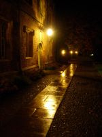 Warmth on a rainy night by morneson
