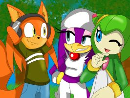 Chuck, Wave, And Cosmo by DarkSonic250