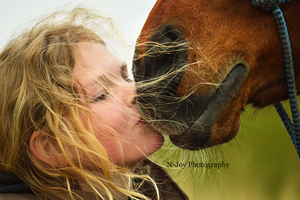 Girl with horse by puppy1128