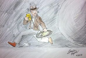 Indy and the Boulder by Donnietu