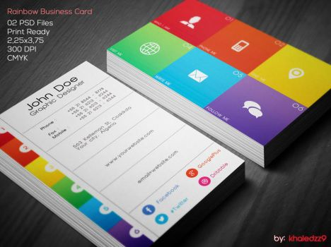 Rainbow Business Card by khaledzz9