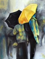 Rain in Amsterdam, 2011, 24-30cm, oil on canvas by oanaunciuleanu