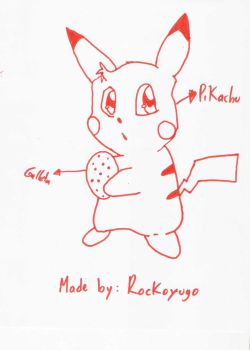 Cute Pikachu With A Cookie by Rockoyugo
