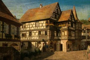 Postcard from Elsass by Louisolah
