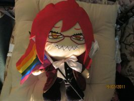i love my Grelle plushie by LuciaDuvant