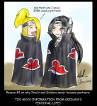 Reasons: Itachi and Deidara by sharem