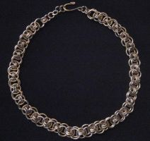 Simple Chainmail Choker by Tarmetiel