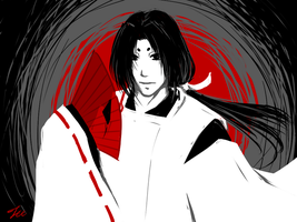 White Black Red Gray by Michron