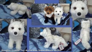 Douglas Cuddle Toy Arctic Fox Snow Queen 10.5in by Vesperwolfy87
