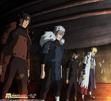 Naruto 618 The Previous Hokages by IITheYahikoDarkII