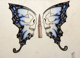 bullet with butterfly wings by stressplex