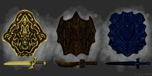 Shields And Daggers - Concept Design by NOOSBORN