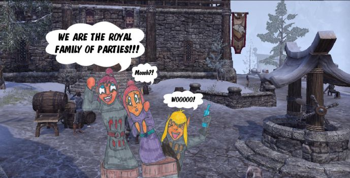 ESO: The Royal Family -Random Marker Drawing by gangyzgirl