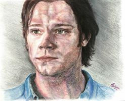 Jared Padalecki/Sam Winchester - Puppy Dog Eyes by Anita-Sanderson