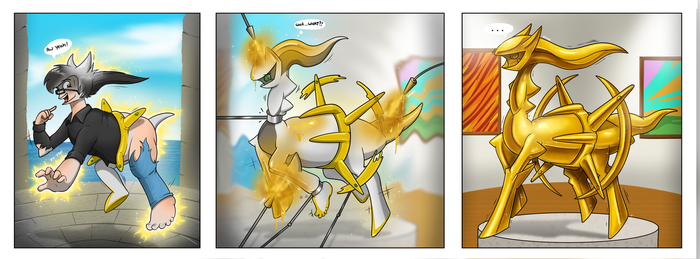 Burstcoffee Golden Arceus Statue TF by Redflare500
