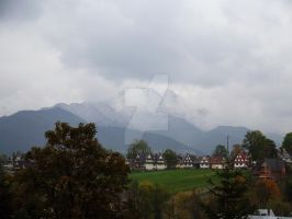 Giewont in fog by 75ronin