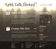 Lets Talk Turkey blog design by upiir
