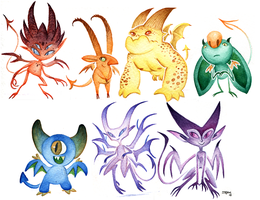 7daysofcolors - Imps by StacyLeFevre