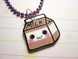 Kawaii Chocolate Milk Necklace by JennyLovesKawaii