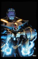 Nova and Thanos by xXNightblade08Xx