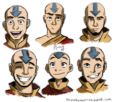 Aang, at various ages by themathemusician