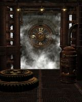 Steampunk Background 6 by Kachinadoll