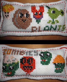 Plants vs. Zombies Pillow by HappyWhite