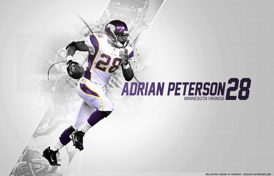 Adrian Peterson by GreenGFX
