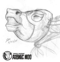 Daily Sketch: Atomic Moo 022315 by JRMurray76