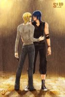 A flame under the rain by Noiry