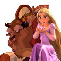 Beast And Rapunzel Gimp by Hiddenwithinthunder