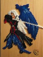 Sephiroth Perler Beads Commission by Cimenord