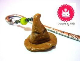Harry Potter - Sorting Hat bookmark by phoenixcarla