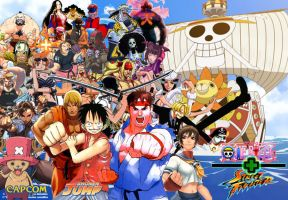 One Piece + Street Fighter by vsking123