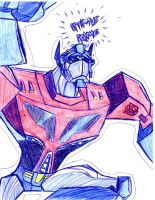 TFA Optimus Prime by DeviantDolphinART