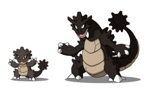 Opalagon and Evolution by 070trigger
