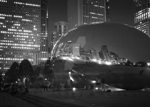 The Bean at Night by EdPettitt