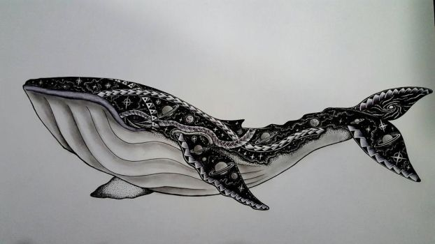 Space Whale  by CosmicDarK