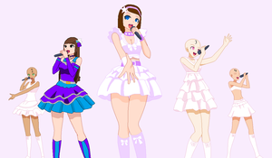 Idol Group Collab With Galaxia by angelthewingedcat