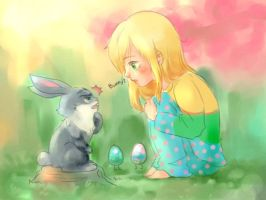 Sophie and Little Bunny by ispan0w0