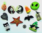 Halloween themed handmade pins by D-E-V-I-A-N-T-A-R-T