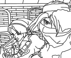 Link and Sheik by Sean-English