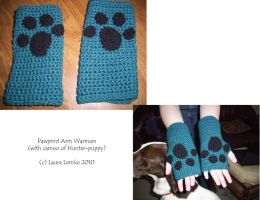 Pawprint Arm Warmers by curseofpogo