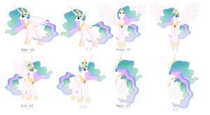 Celestia Versions by Bronytoons